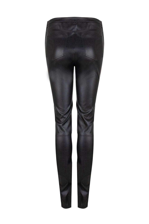 Gaga Kunst Leren Legging - Raven Zwart-3