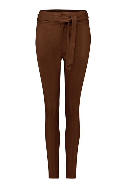 Ann Leather Pant - Brown