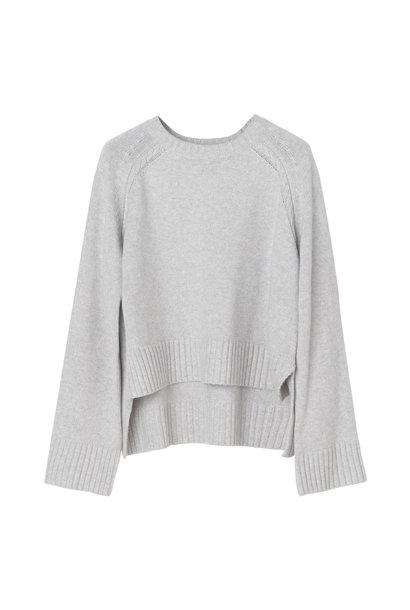 Alvia Sweater - Light Grey Melange