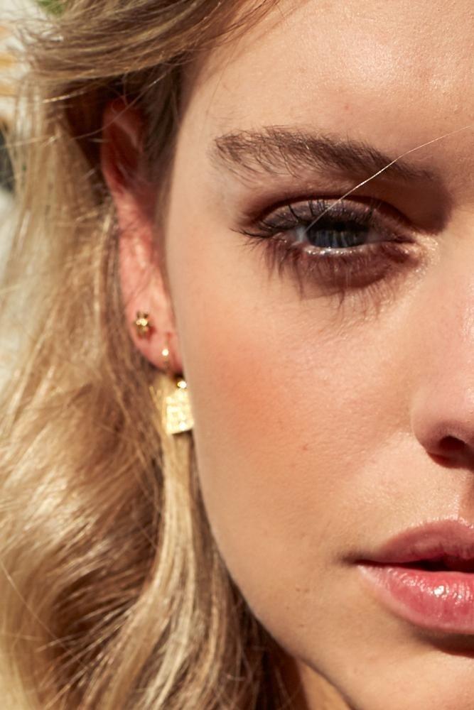 Flower Stud Earring - Gold-5