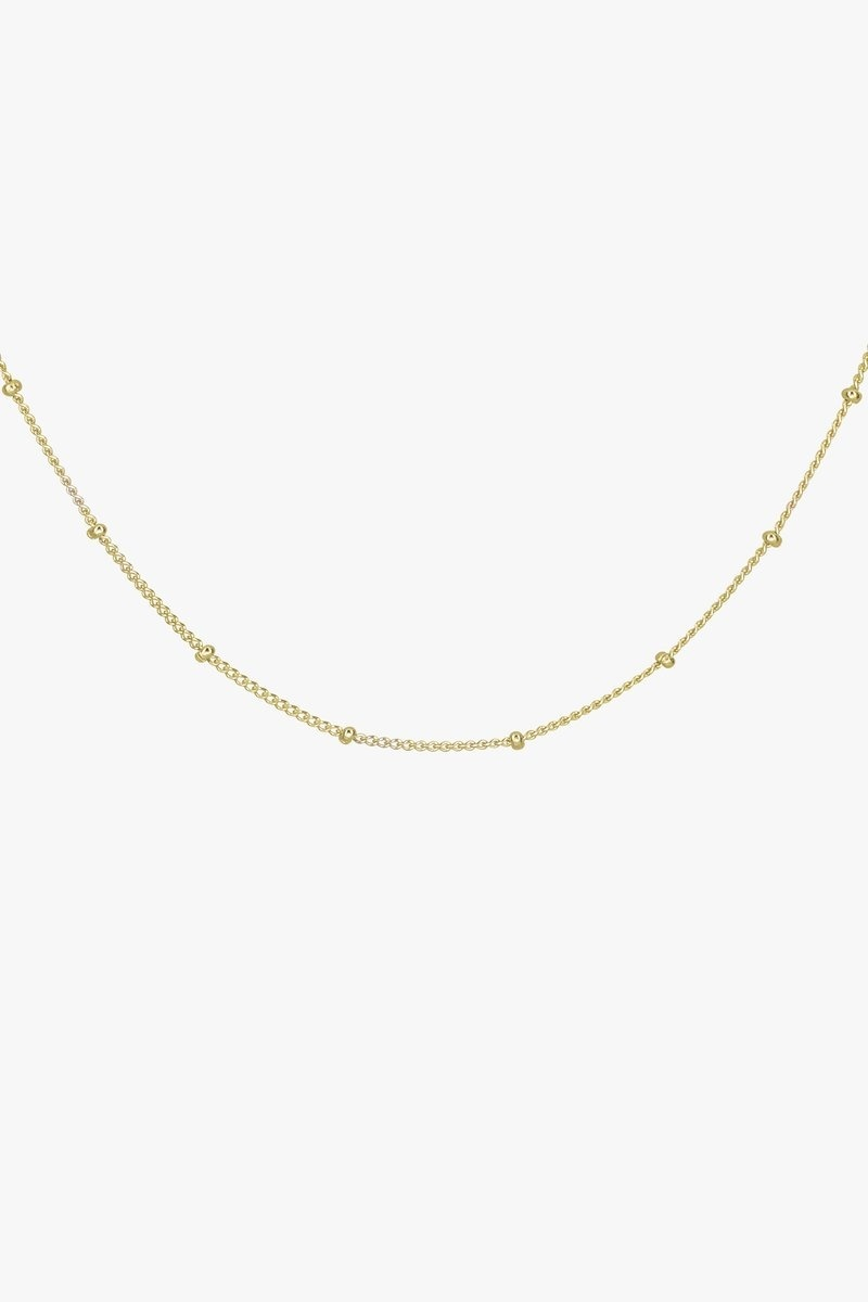 Stud Chain Necklace - Gold-2