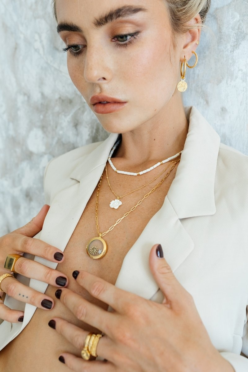 Tiny Chain Necklace - Gold-3