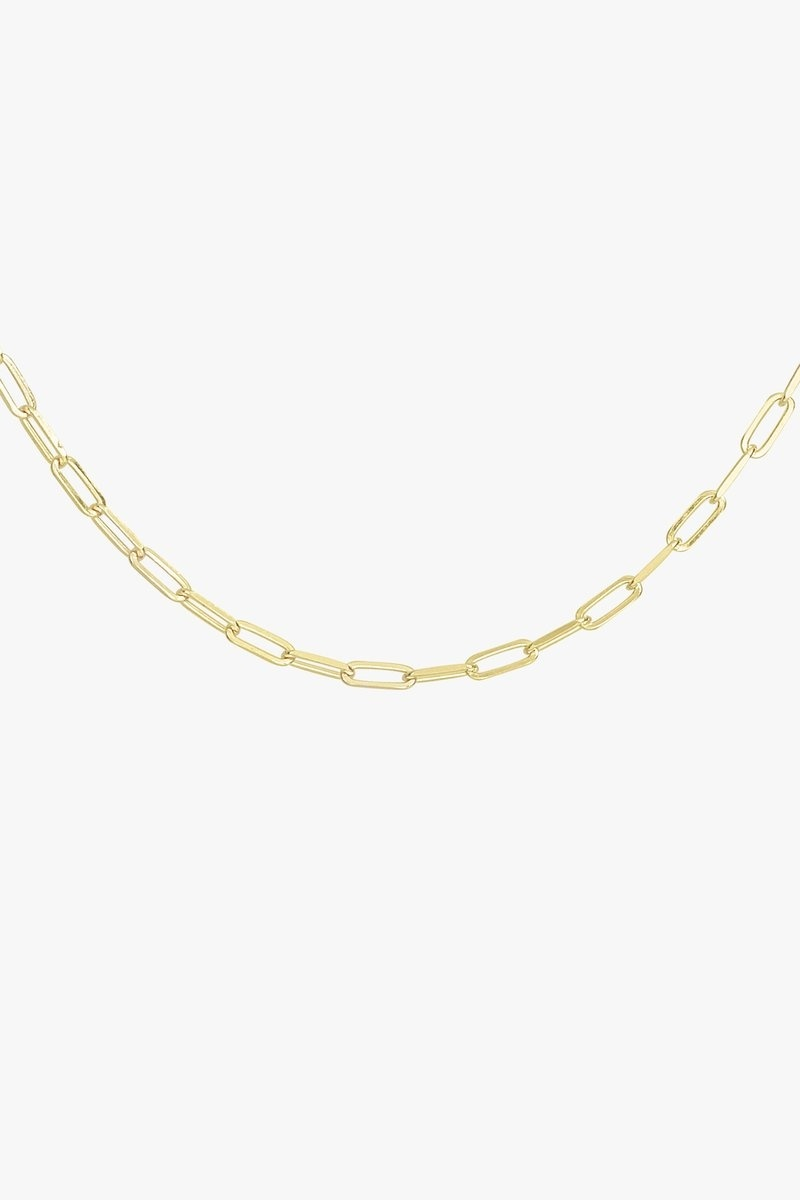 Tiny Chain Necklace - Gold-2