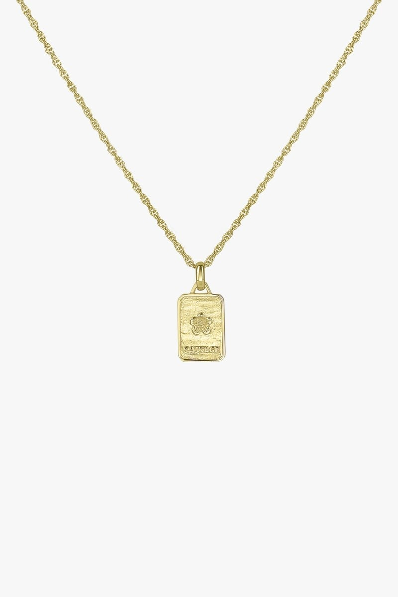 Sauvage Necklace Pendant - Gold-2
