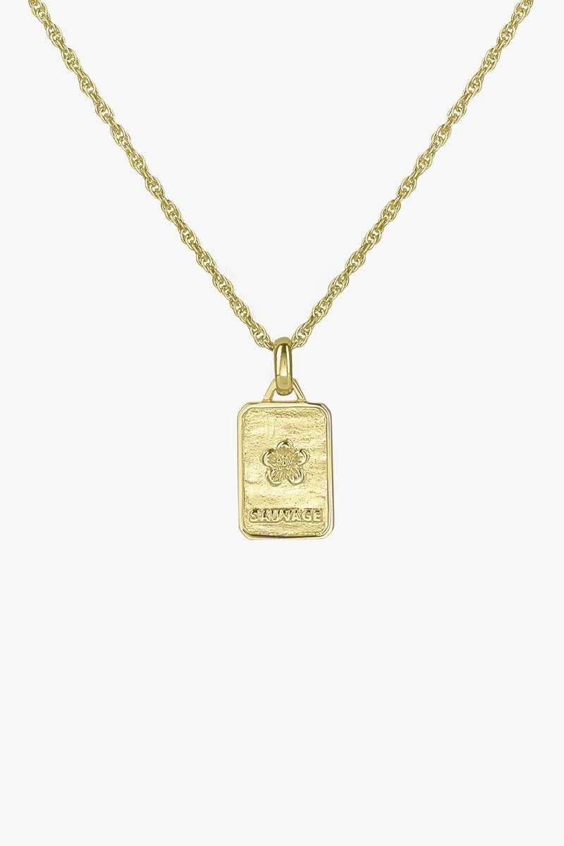 Sauvage Necklace Pendant - Gold-4
