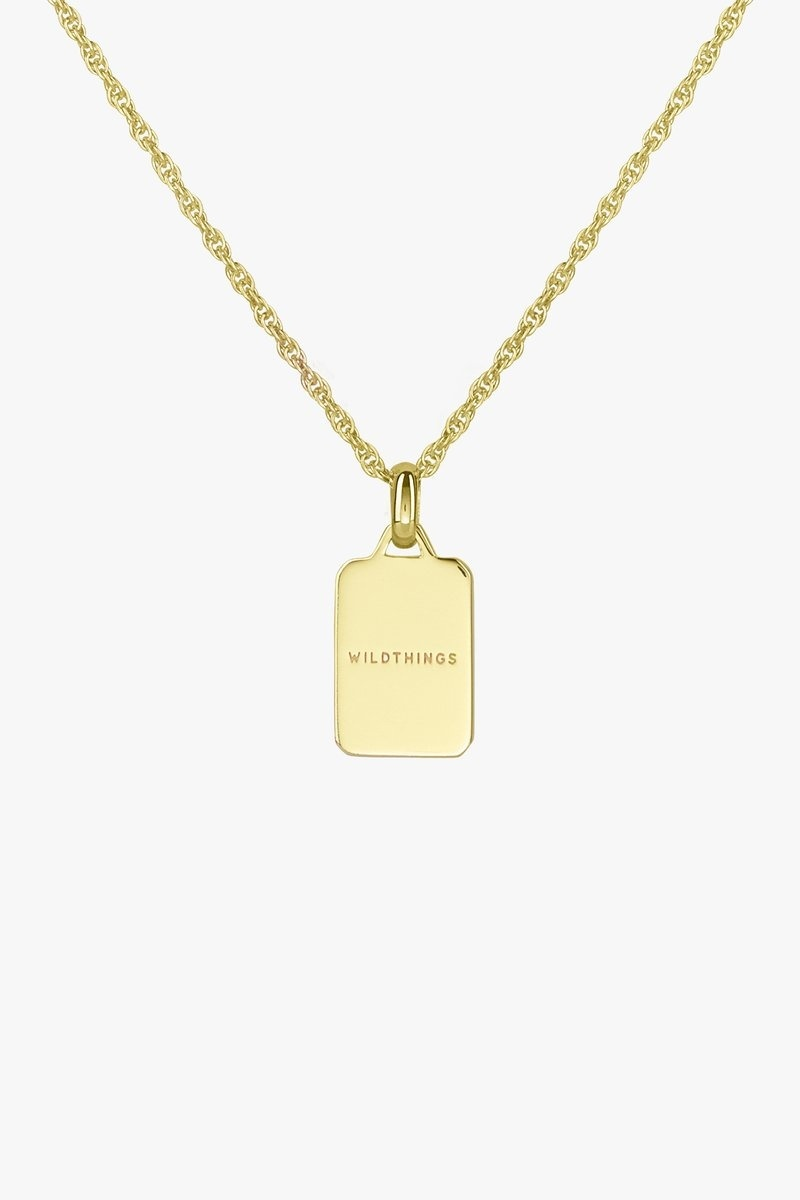 Sauvage Necklace Pendant - Gold-5