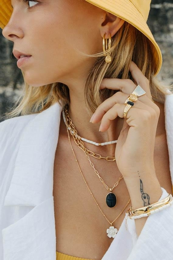 Scarab Earring Charm - Gold-5