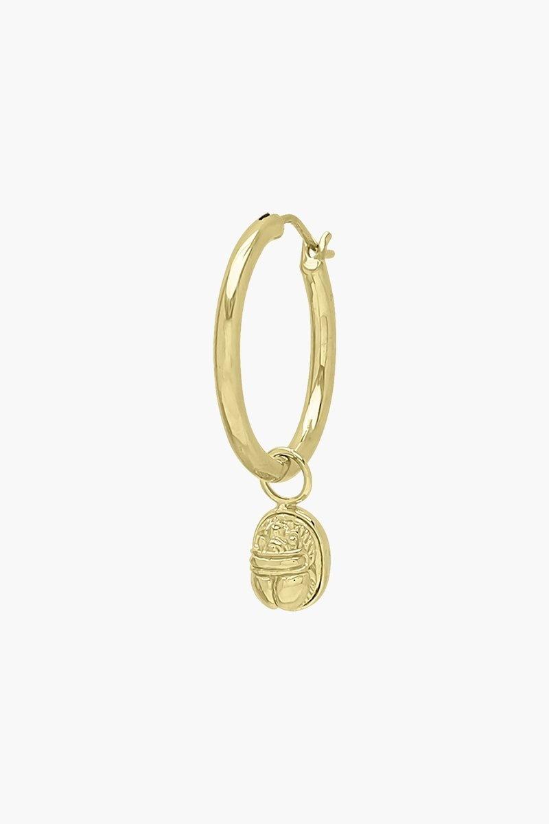 Scarab Earring Charm - Gold-3