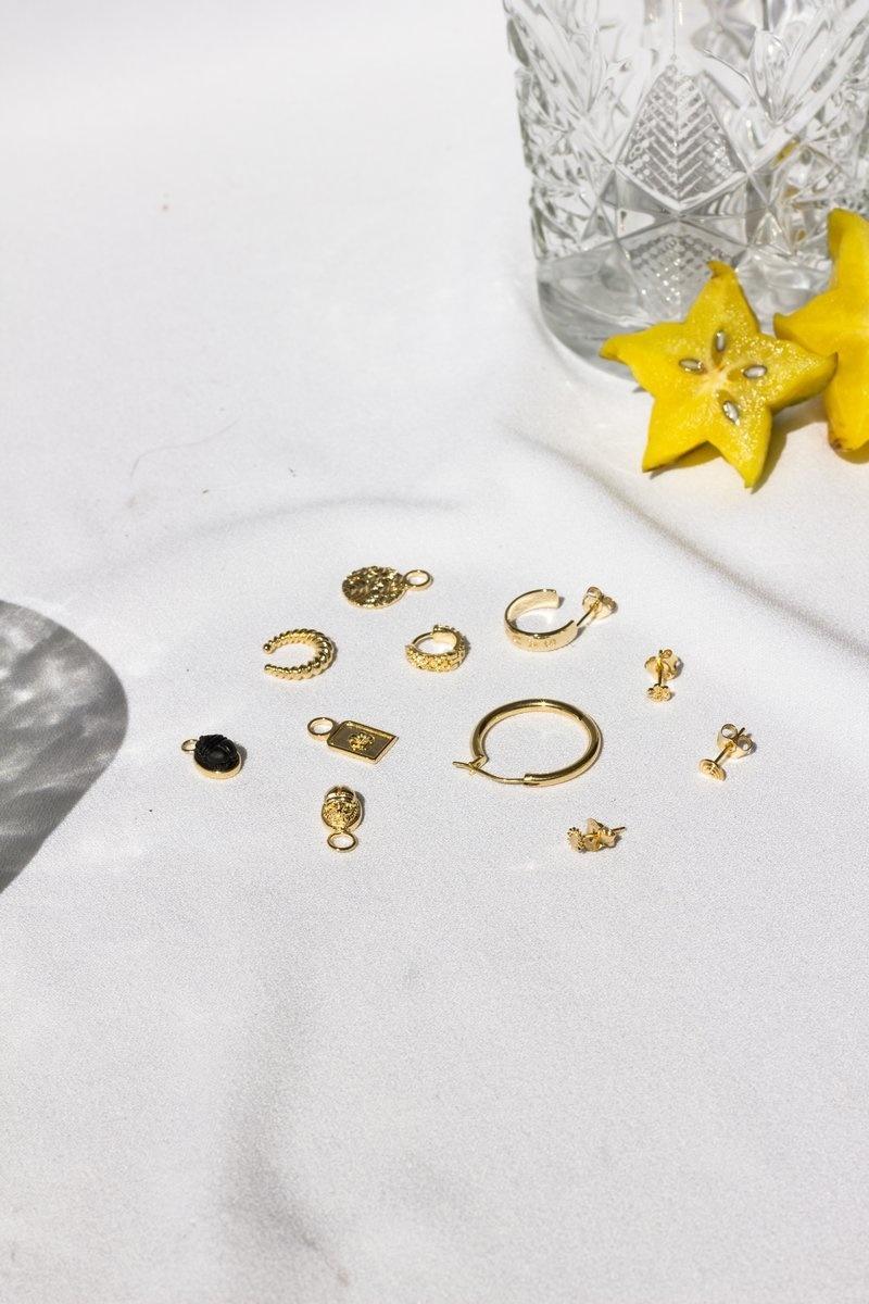 Scarab Earring Charm - Gold-8