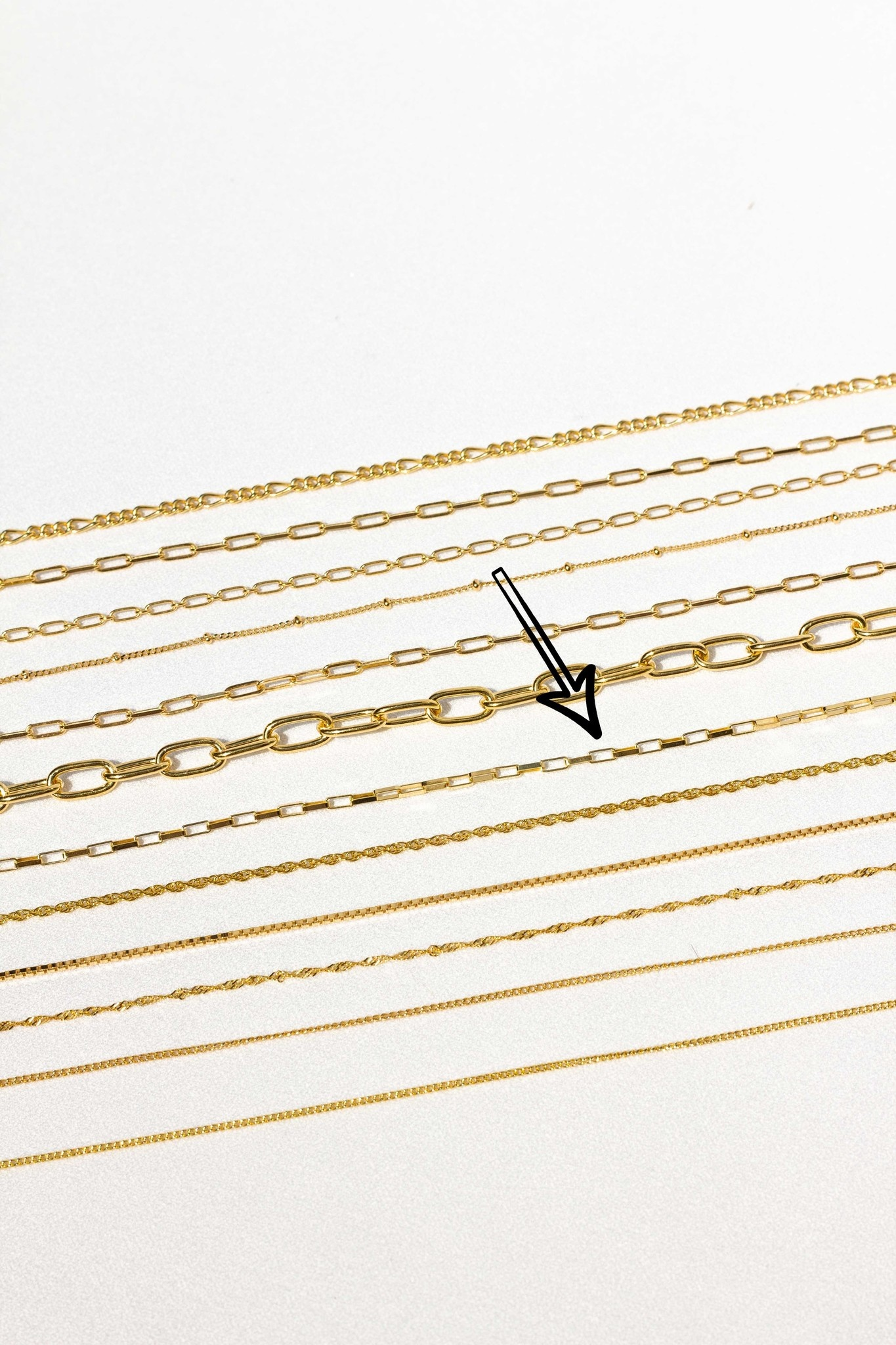 Square Necklace - Gold-3