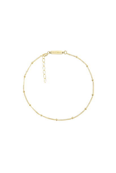 Stud Chain Anklet - Gold