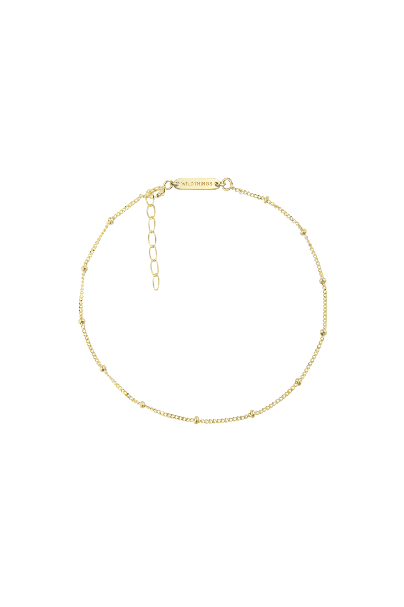 Stud Chain Anklet - Gold-1