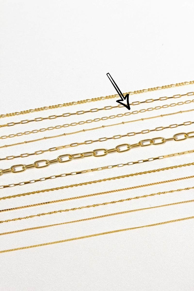 Figaro Choker Necklace - Gold-4