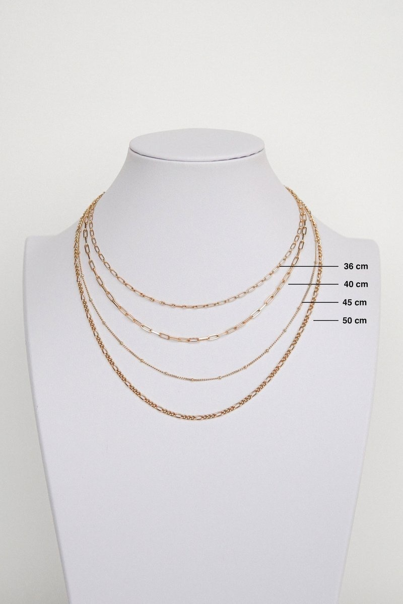 Figaro Choker Necklace - Gold-5