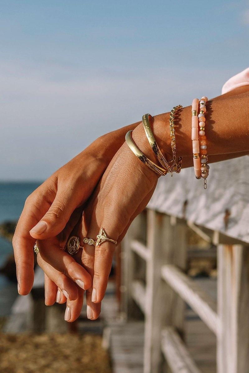 Pink Palette Bracelet - Gold-4