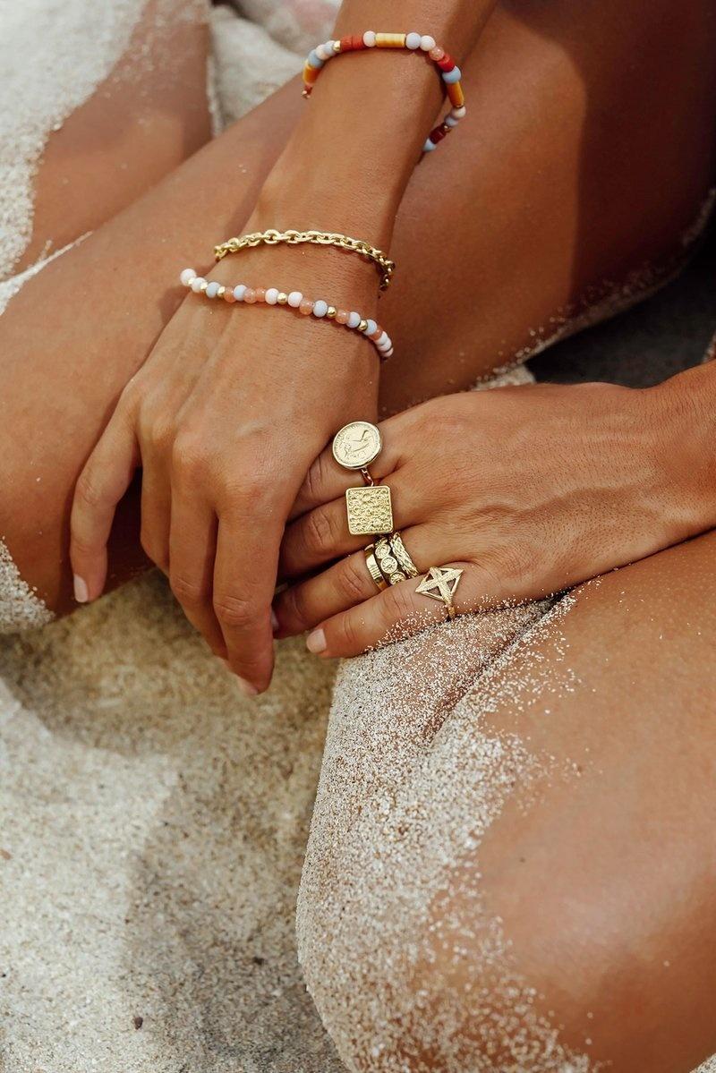 Pink Palette Bracelet - Gold-2
