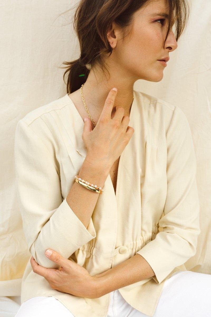 Pink Palette Bracelet - Gold-8