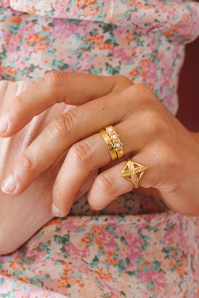 Five Lines Ring - Gold-4
