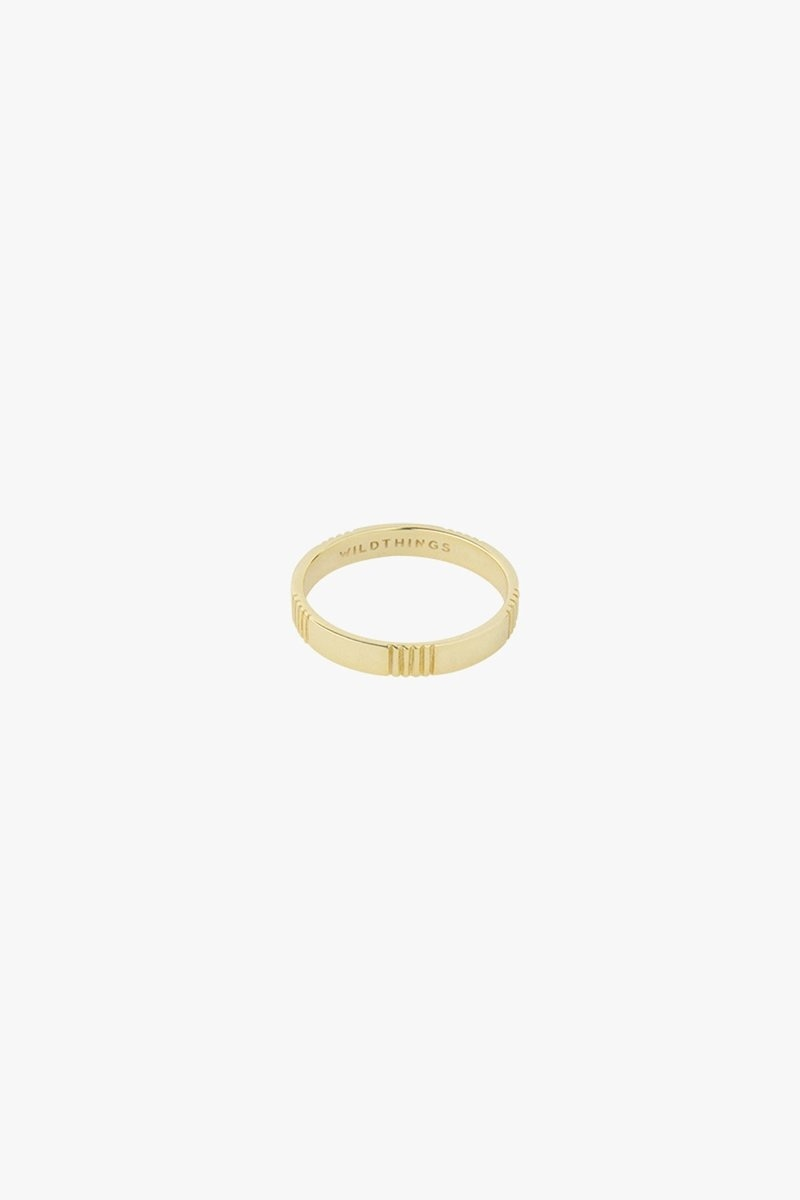 Five Lines Ring - Gold-2
