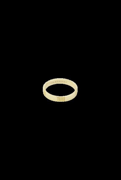 Five Lines Ring - Goud