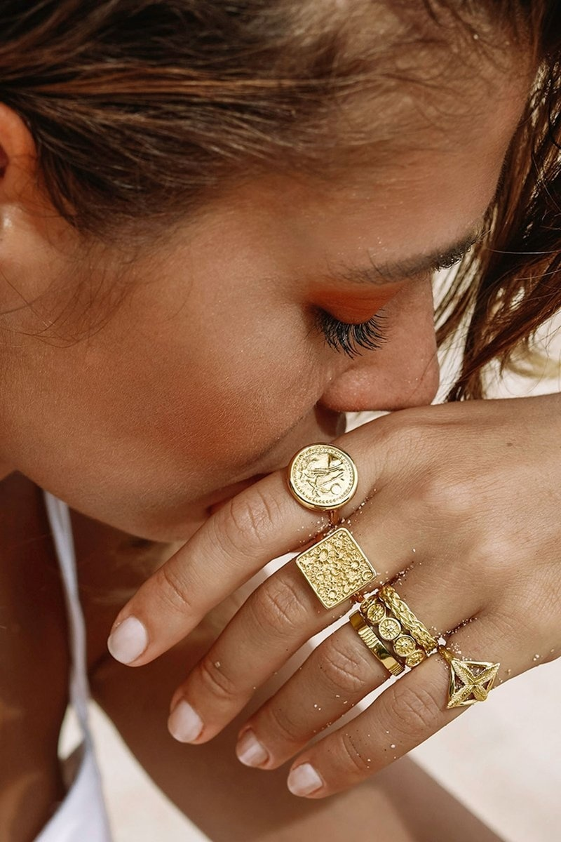 Braided Ring - Gold-4