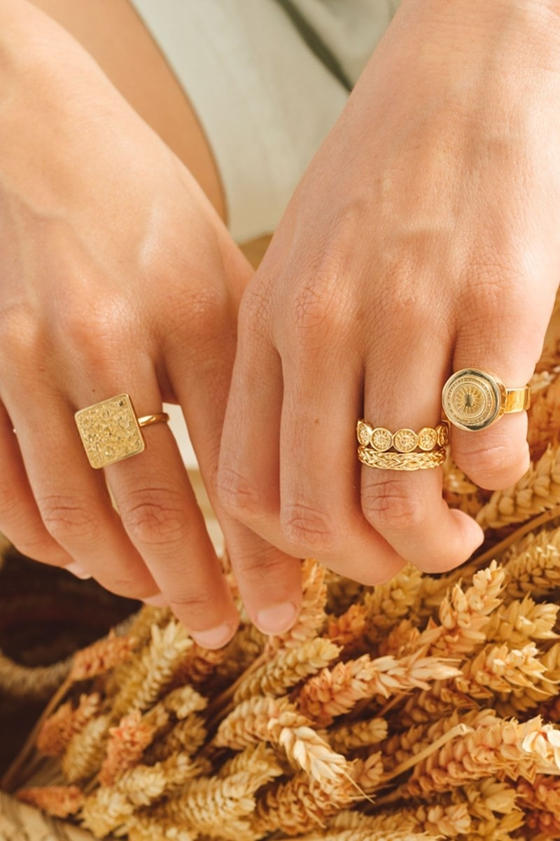 Braided Ring - Gold-9