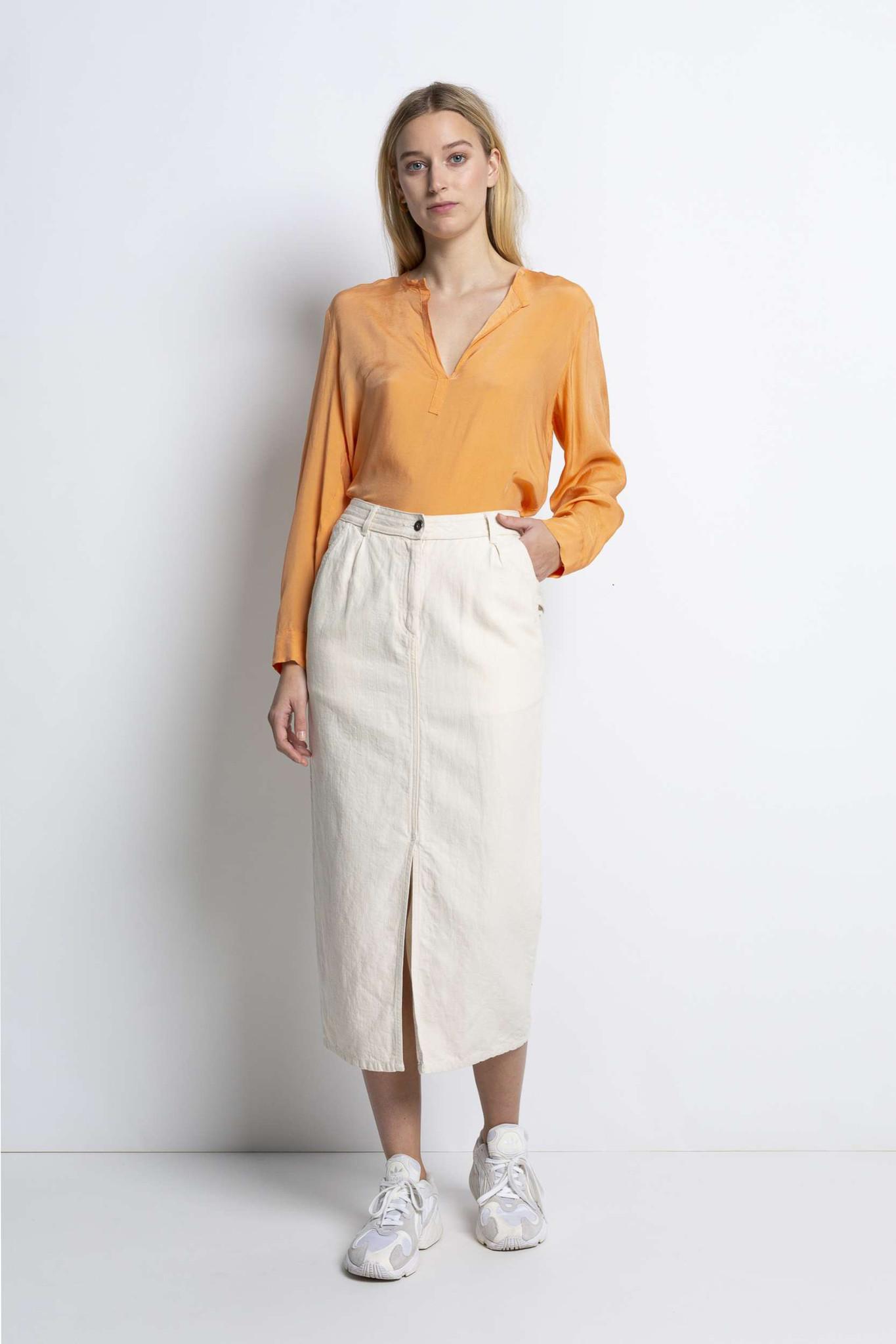 Ami Midi Skirt - Sand-2