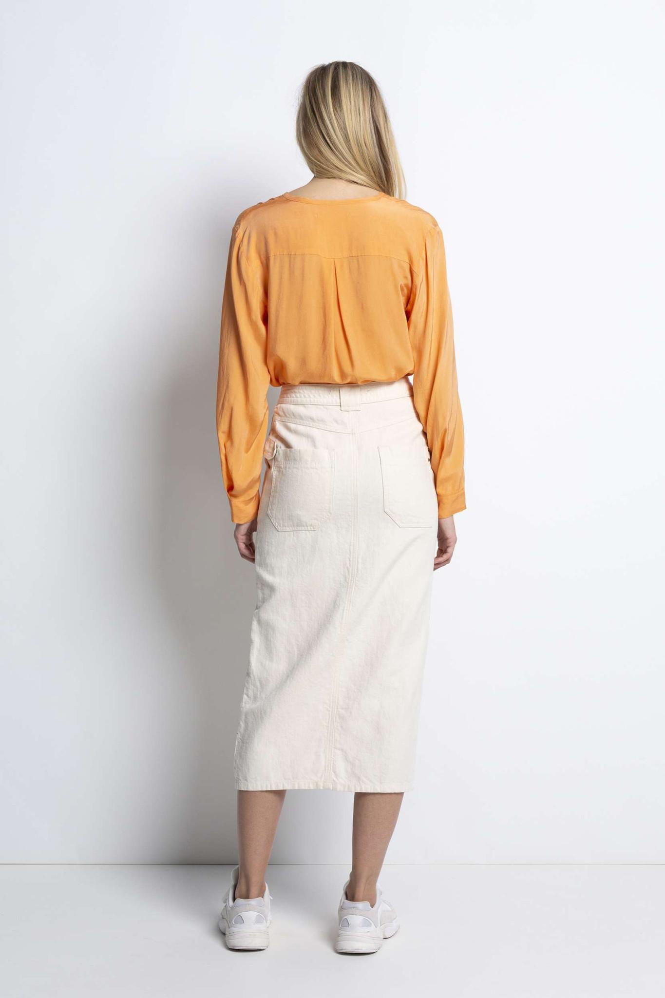 Ami Midi Skirt - Sand-3