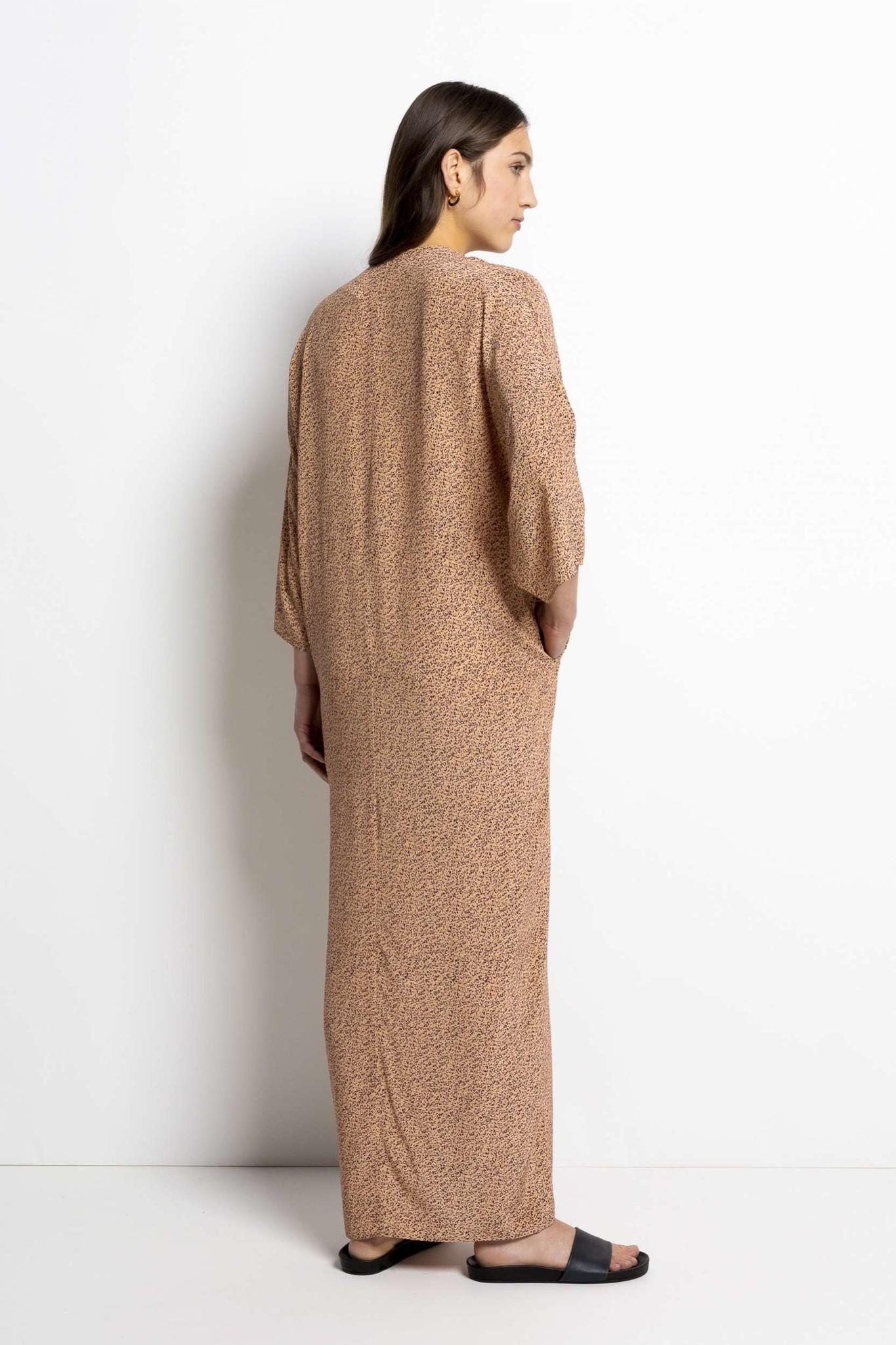Bless Print Dress - Apricot-4