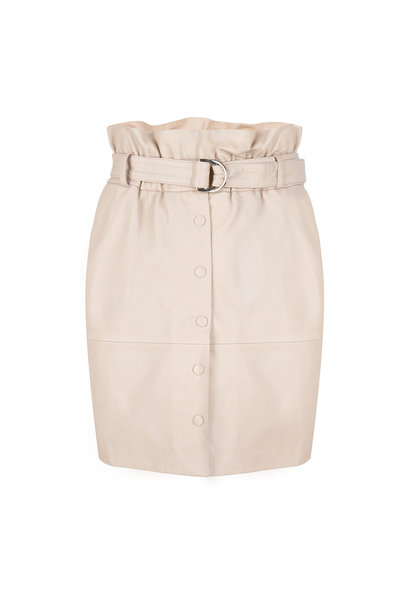 Couric Leather Skirt - Warm Sand