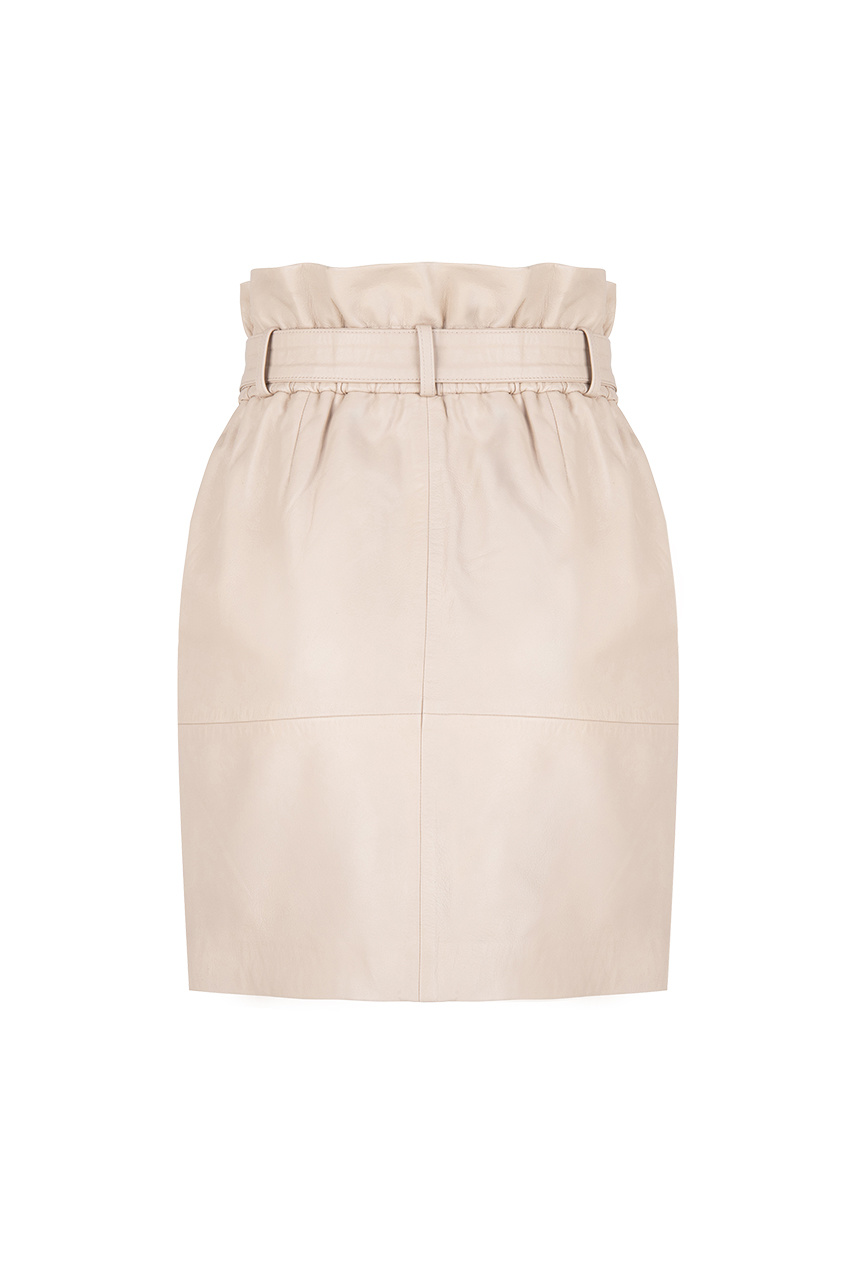 Couric Leather Skirt - Warm Sand-3