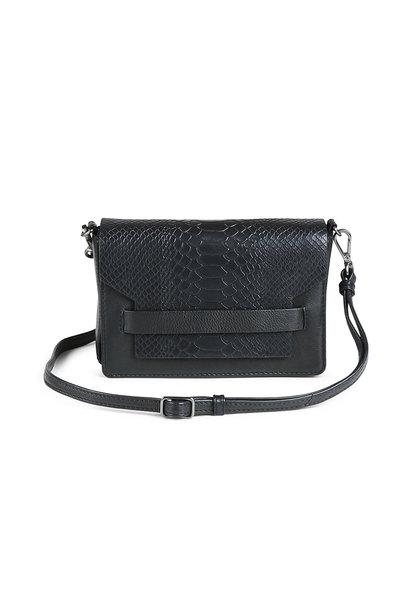 Vanya Crossbody Bag Snake - Black