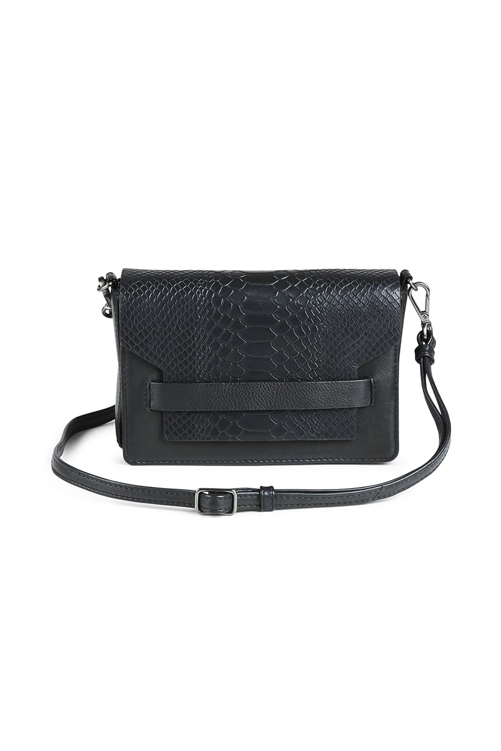 Vanya Crossbody Bag Snake - Black-1