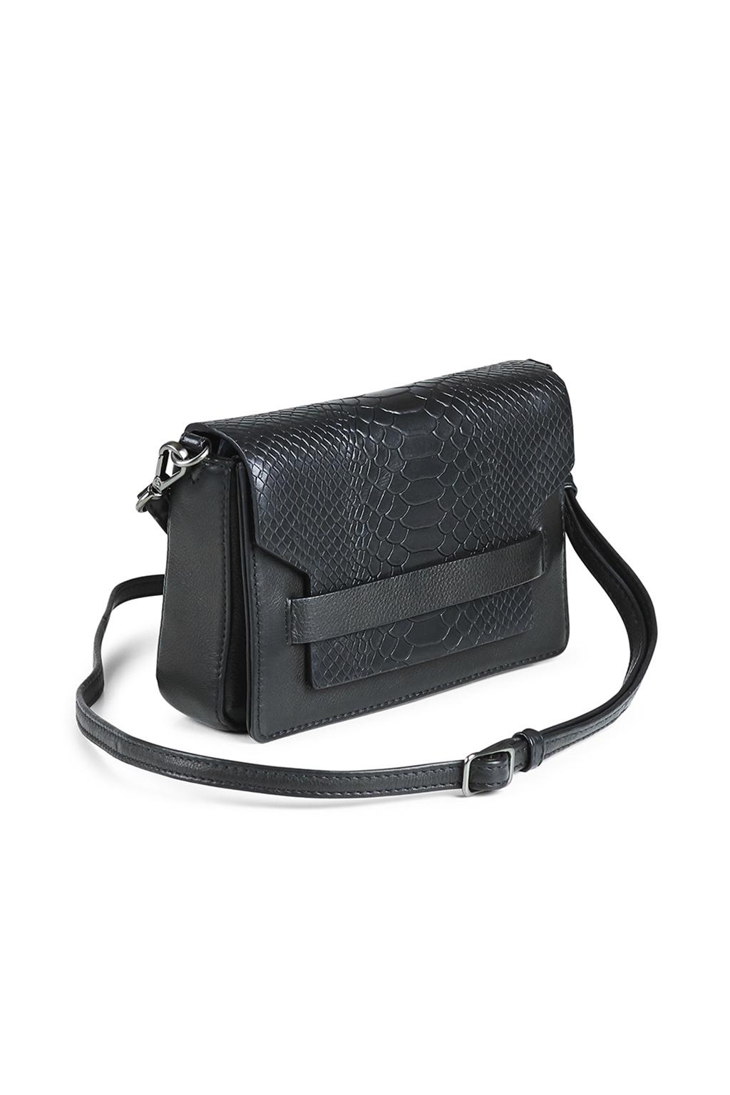 Vanya Crossbody Bag Snake - Black-2