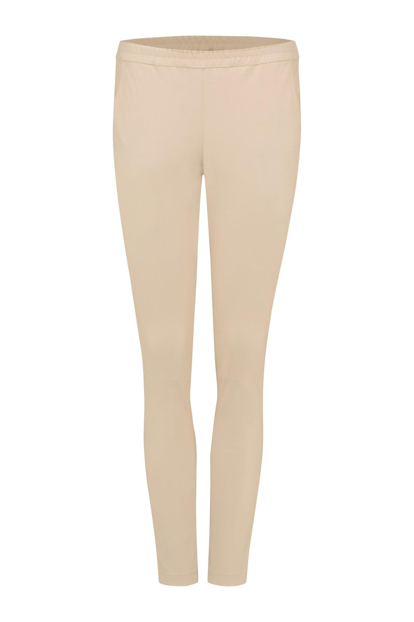 Babba Leather Pants - Sand-1