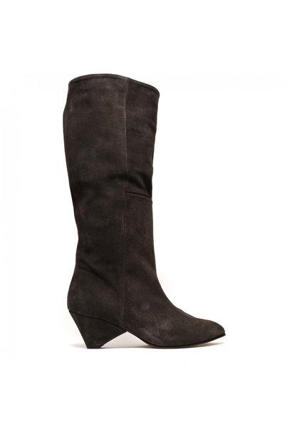 Brilliah Calf Suede Boot - Grey