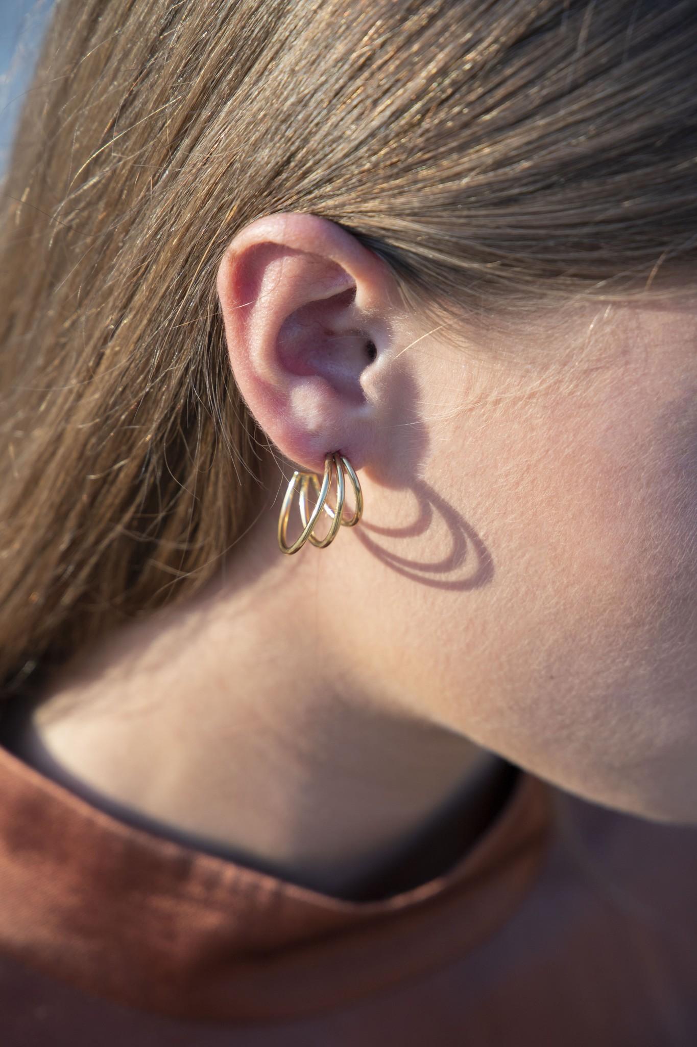 Wire Earrings - Gold-2