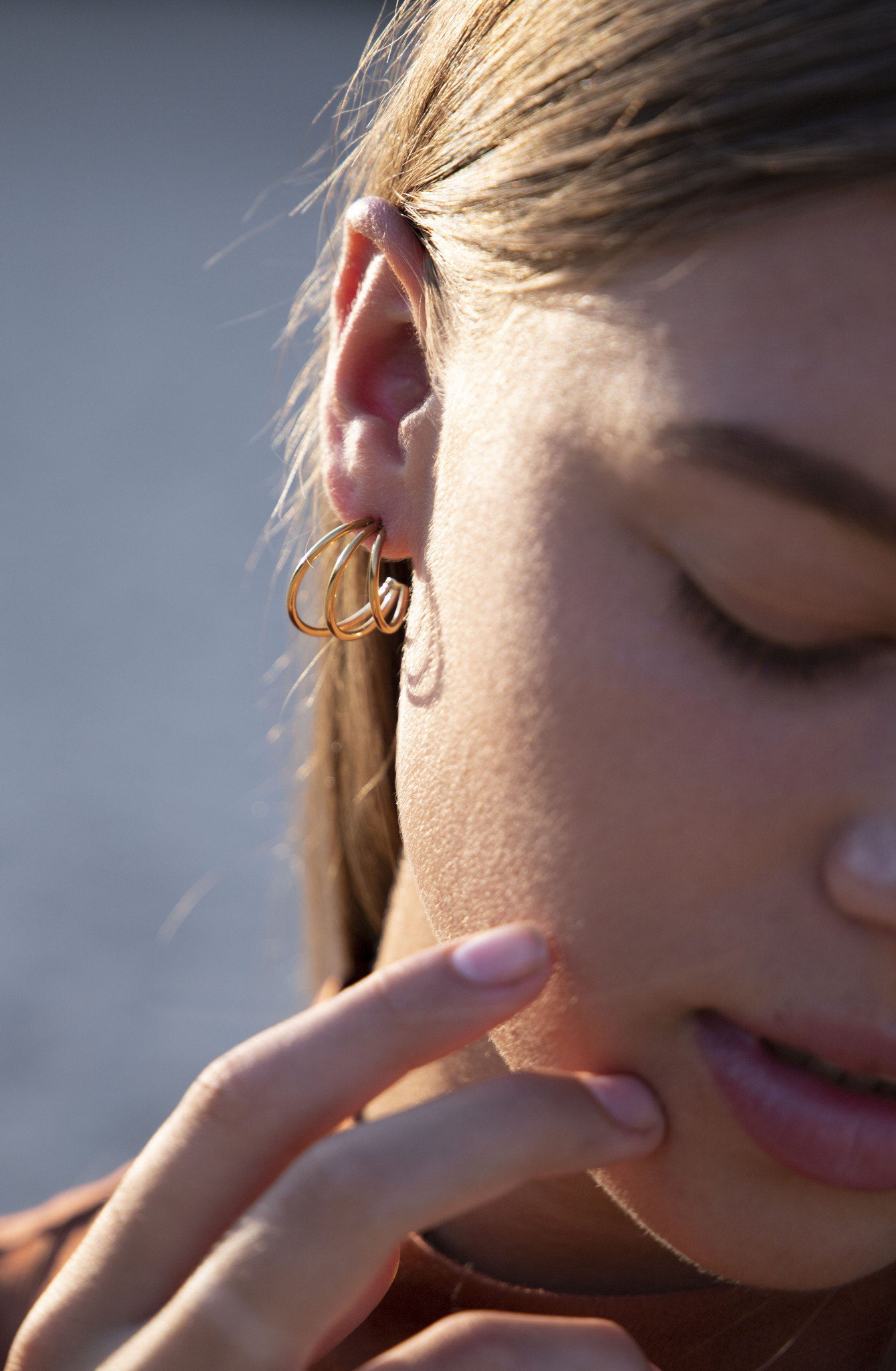 Wire Earrings - Gold-3