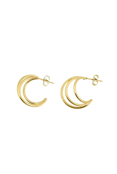 Wire Earrings - Gold