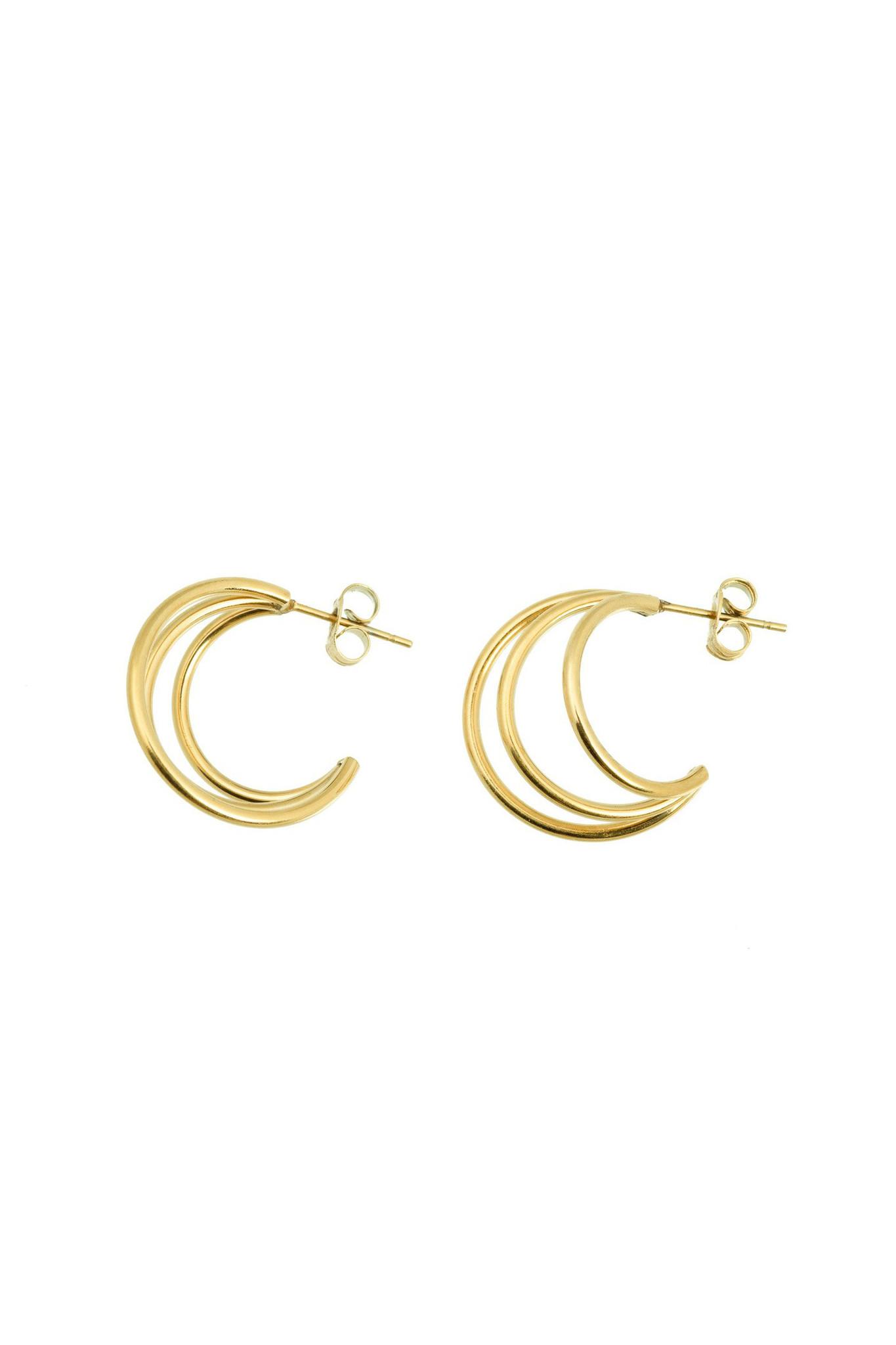 Wire Earrings - Gold-1