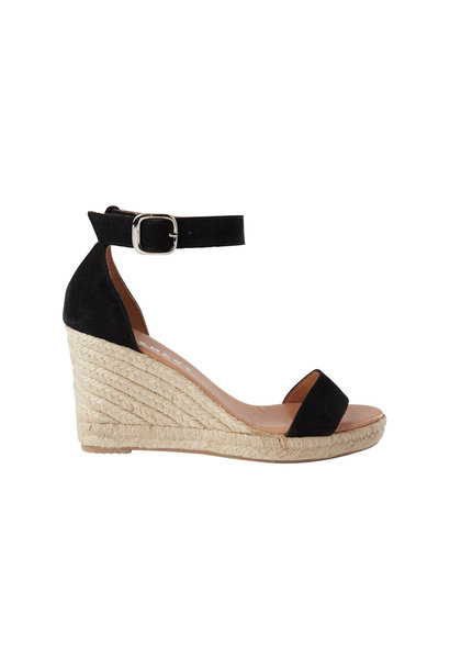 Erin Suede Wedge - Black