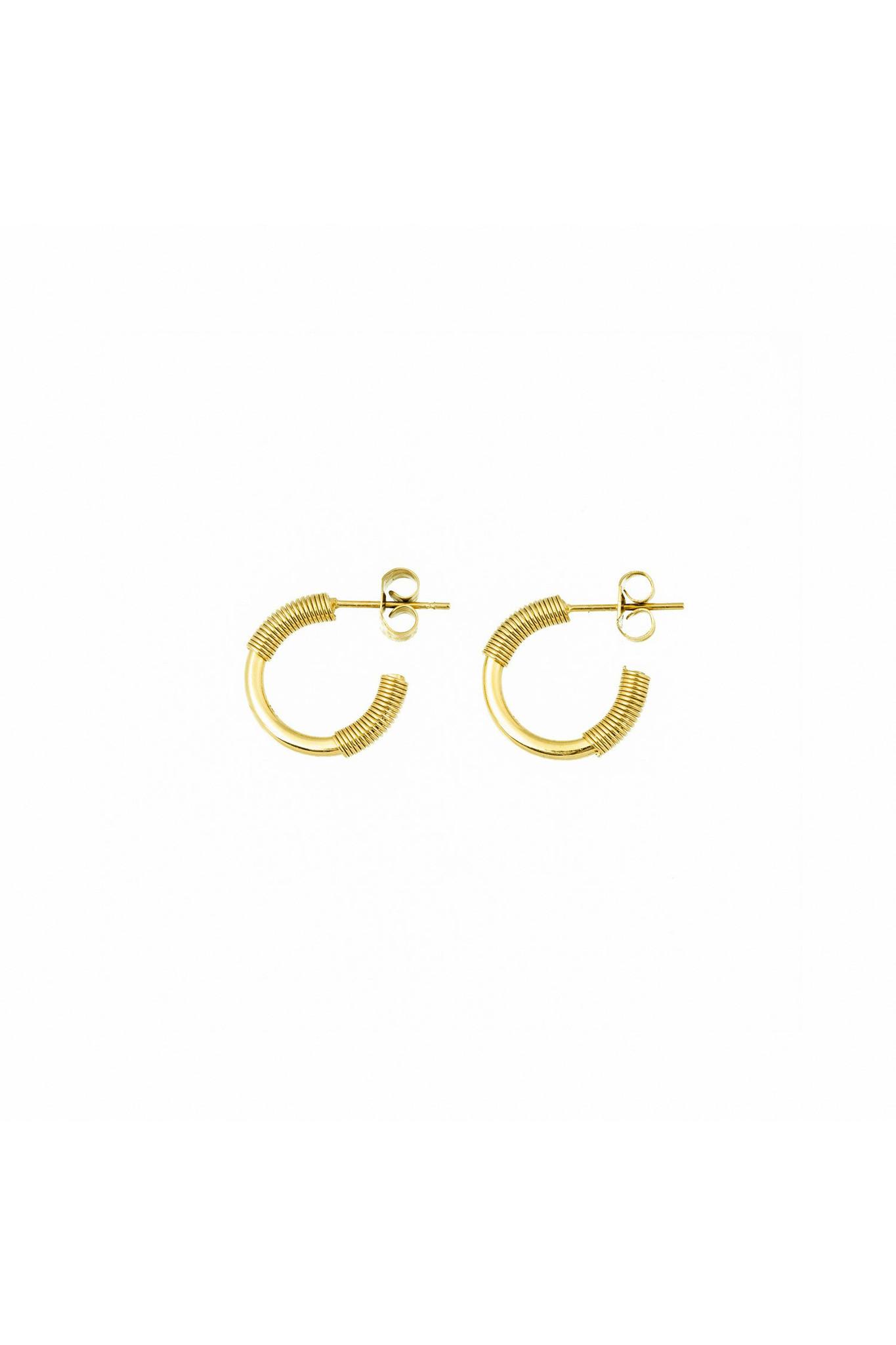 Spiral Earrings - Gold-1