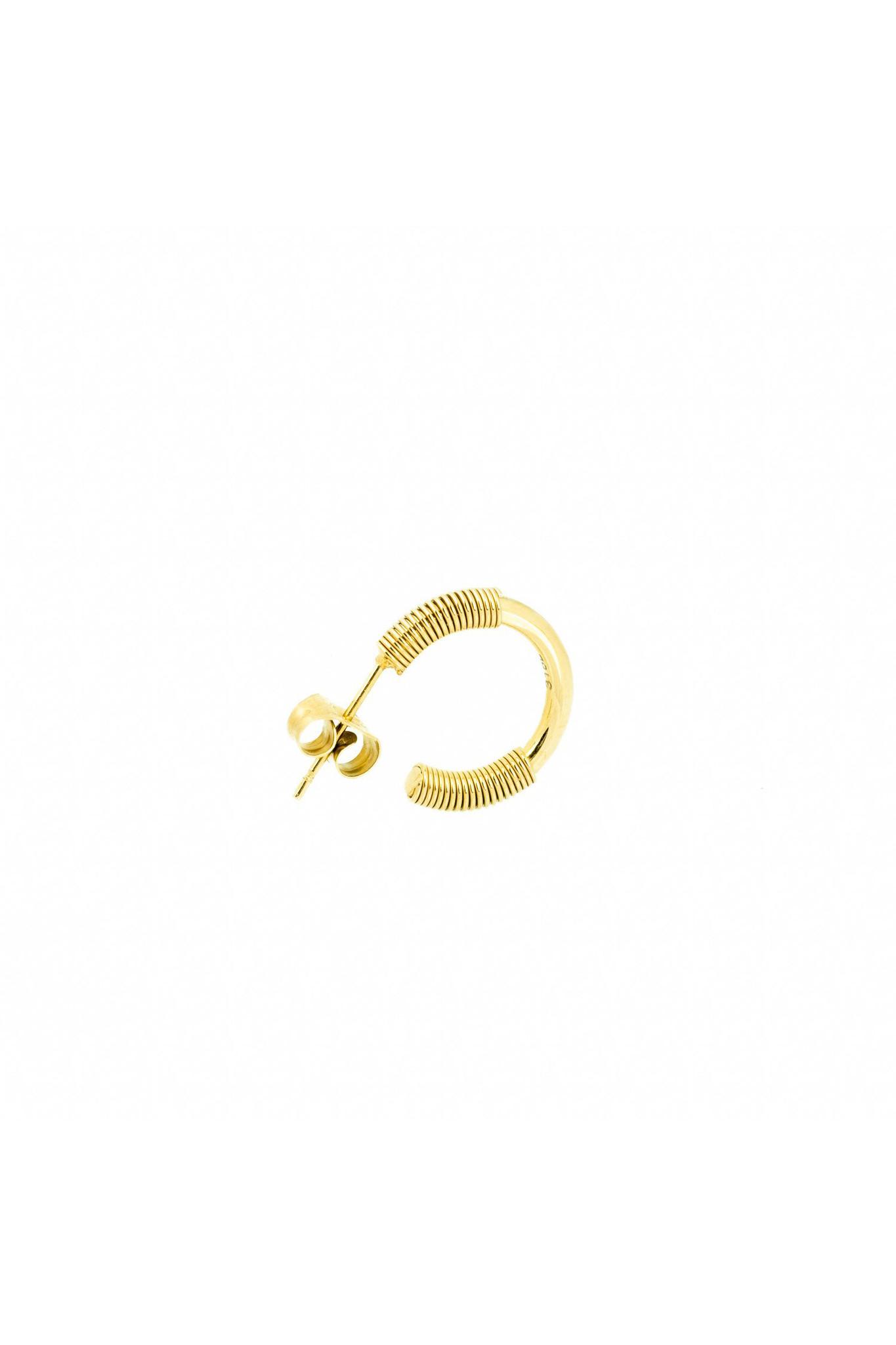 Spiral Earrings - Gold-3