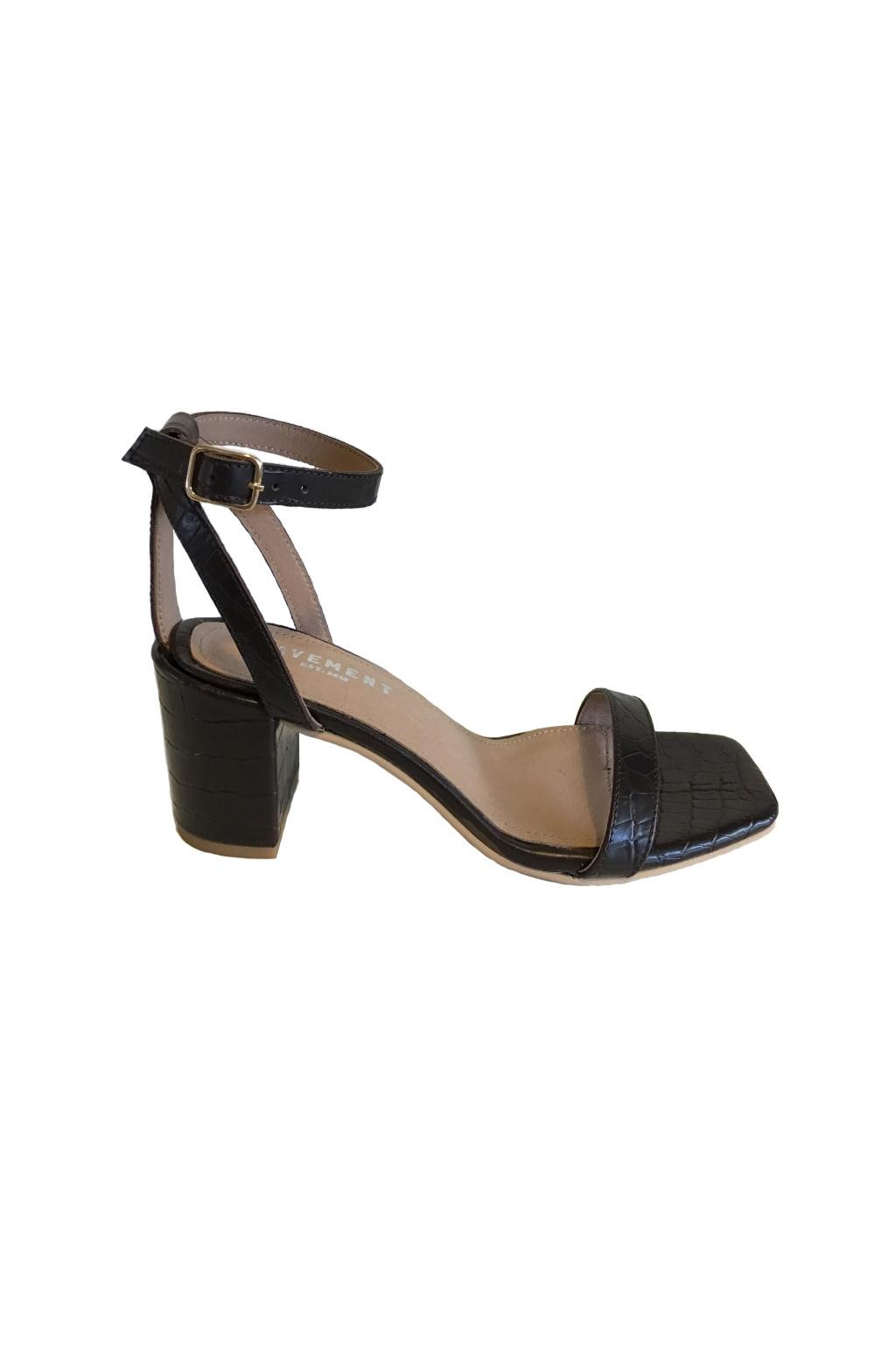 Else Sandaal - Zwart Croco-1