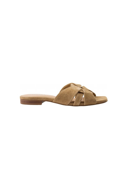 Gin Slipper - Taupe Suede