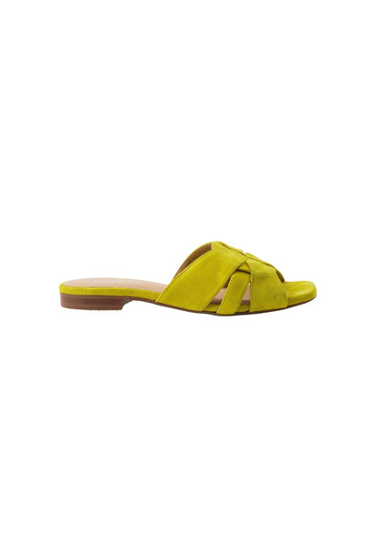 Gin Slipper - Yellow Suede