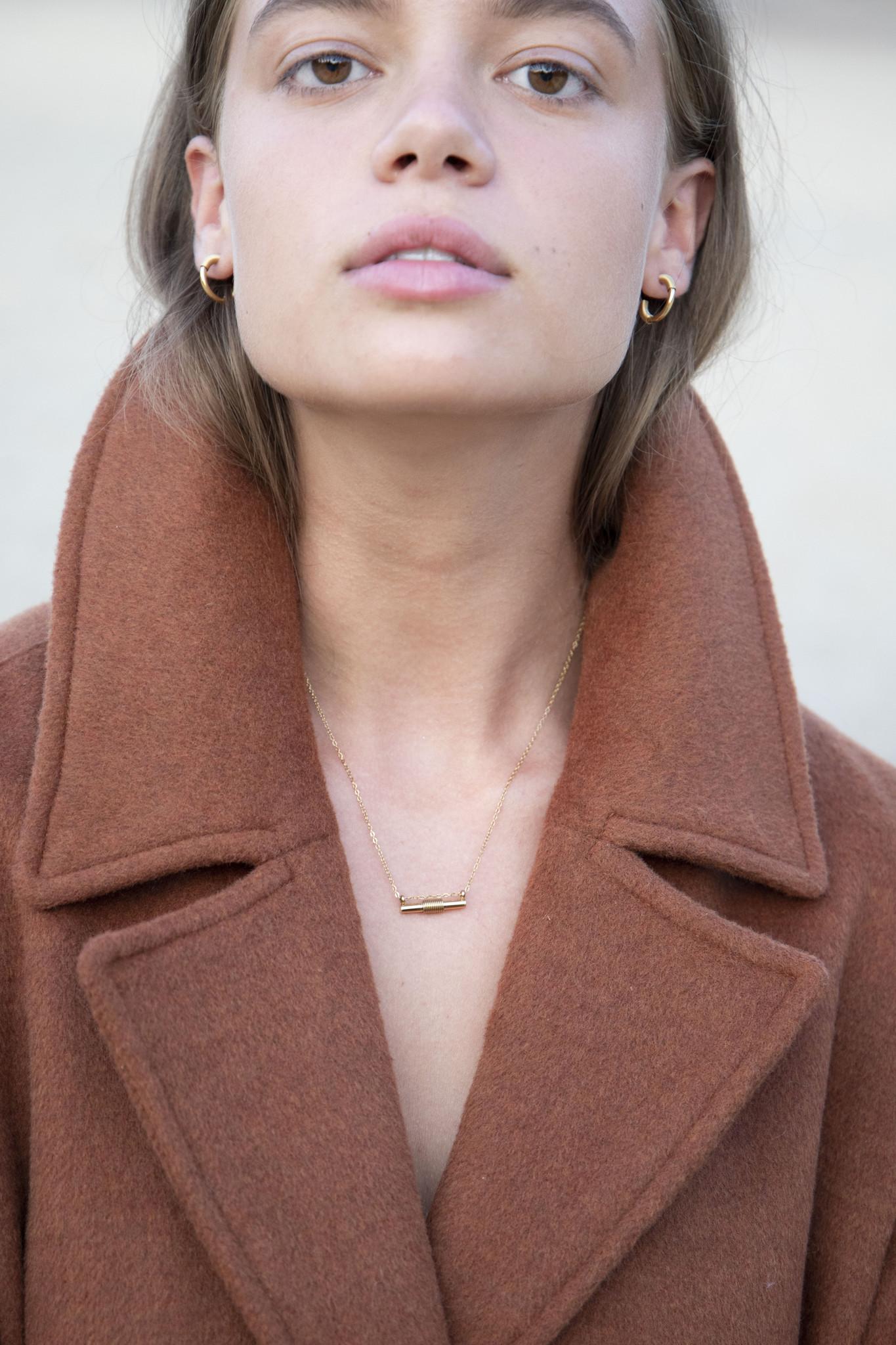 Spiral Necklace - Gold-2
