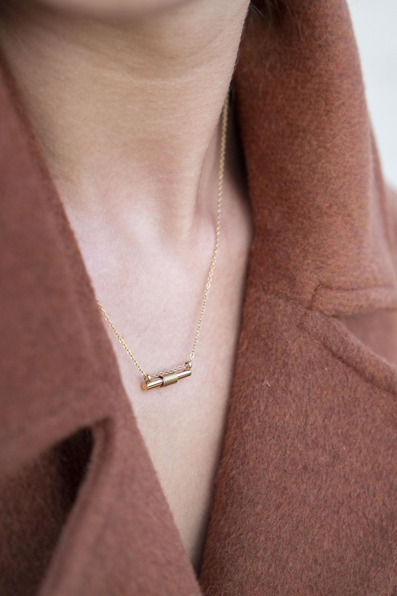 Spiral Necklace - Gold-4
