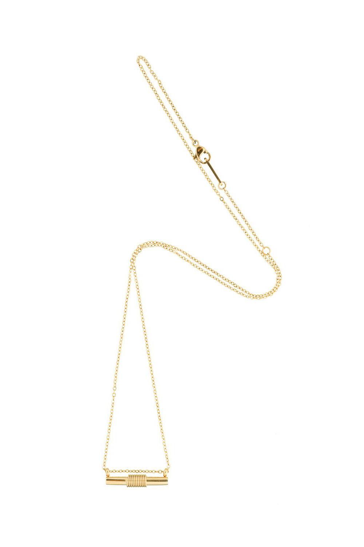 Spiral Necklace - Gold-3