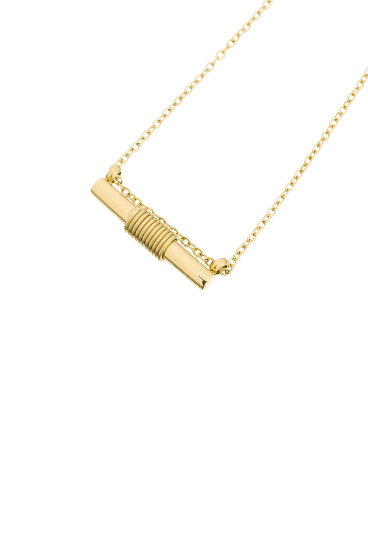 Spiral Necklace - Gold-1